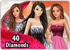 ladyPopular card - 40 diamonds