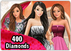 LadyPopular card - 400 diamonds