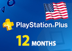 Playstation Plus 12 Months United States only