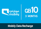Mobily Data recharge -10 GB-3Months