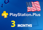 Playstation Plus 3 Months  (United States Only)