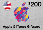 iTunes gift card $200