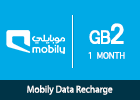 Mobily Data recharge 2 GB- 1 month