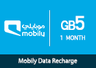 Mobily Data recharge 5 GB-1 month
