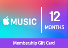Apple Music 12-Month Membership Gift Card