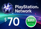 PlayStation Network - $70 PSN Card (Saudi Store Only)