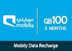Mobily Data recharge 100 GB-3 months