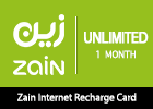 Zain Internet Recharge Card Unlimited–1 Month