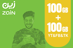 Zain Internet Recharge Card 100GB–3 Months