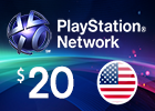 PlayStation Network - $20 PSN Card (United States Store)
