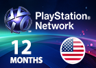 Playstation Plus 12 Months (United States Store)