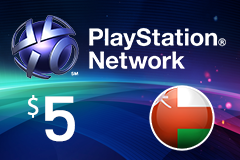 PlayStation Network - $5 PSN Card (Omani Store)