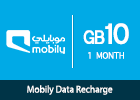 Mobily Data recharge 10 GB - 1 Month