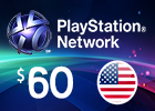PlayStation Network - $60 PSN Card (United States Store)