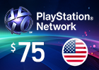 PlayStation Network - $75 PSN Card (United States Store)