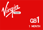 Saudi Virgin Data Recharge Card  - 1 GB for 1 Month