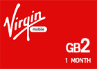 Saudi Virgin Data Recharge Card  - 2 GB for 1 Month