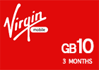 Saudi Virgin Data Recharge Card  - 10 GB for 3 Months