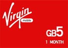 Saudi Virgin Data Recharge Card  - 5 GB for 1 Month