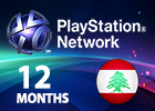 PlayStation Network - 12 Months (Lebanon Store)