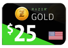 Razer Gold - $25 (US Store)