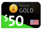 Razer Gold - $50 (US Store)