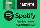 Spotify Premium 1 Month  Subscription (Saudi Store Only).