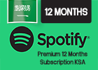 Spotify Premium 12 Months Subscription (Saudi Store Only).
