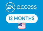 PlayStation EA  ACCESS - 12 MONTH PSN Card (United States Store)