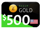 Razer Gold - $500 (US Store)