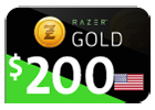 Razer Gold - $200 (US Store)