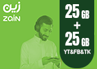 Zain Internet Recharge Card 20GB-1 Month