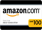Amazon (KSA) Gift Card - SAR 100.